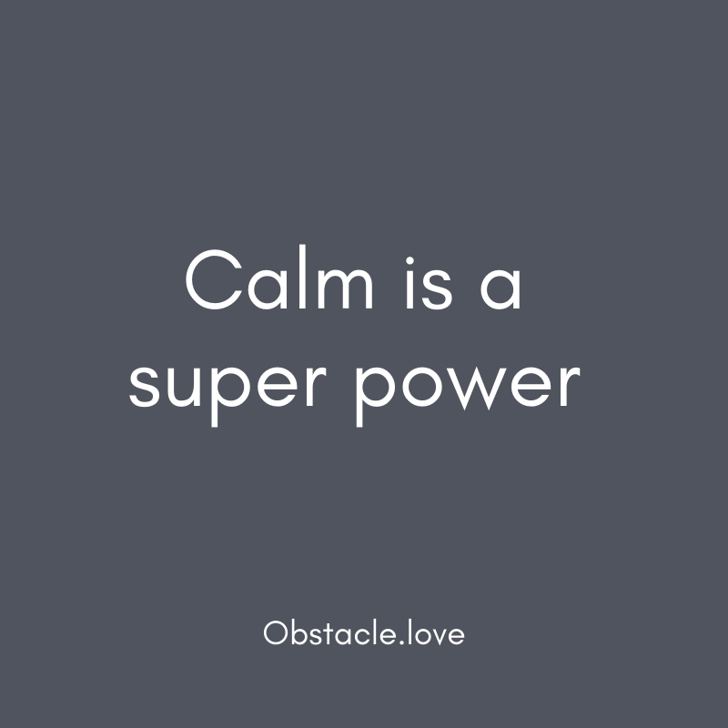 """Calm is a super power"" quote"
