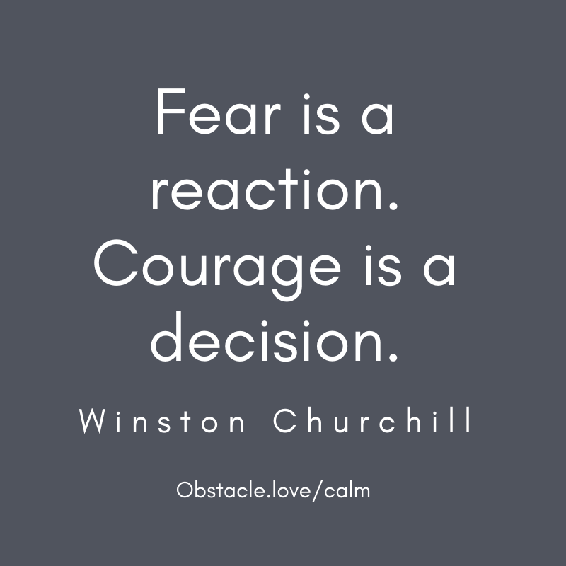 Fear vs courage. Churchill